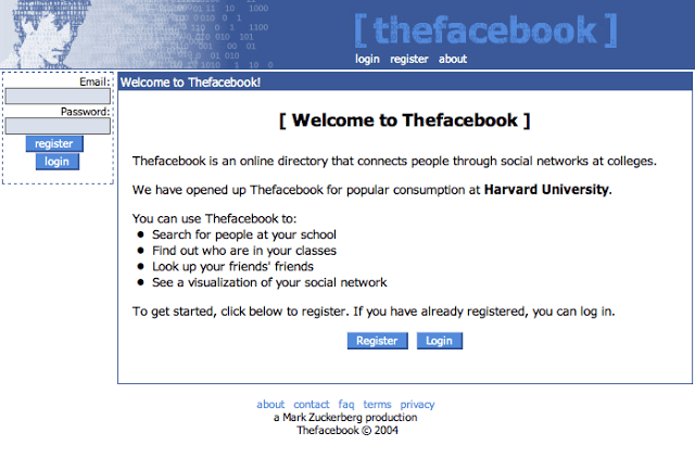 FB-First-Login-Page