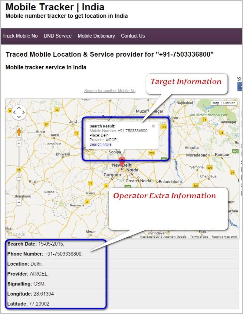 Mobile profile 7503336800 tracker trace locate India