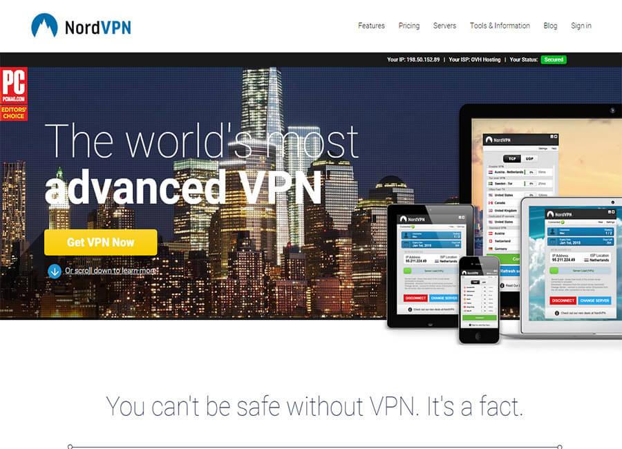 Best VPN service NordVPN