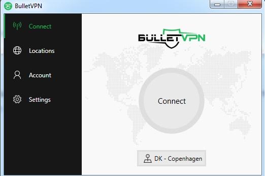 BulletVPN User Interface