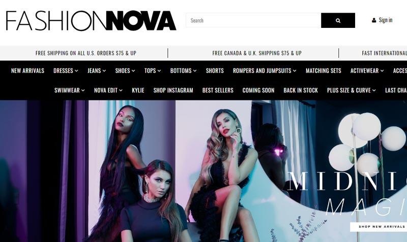Stores like Fashion Nova